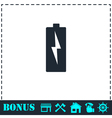 Battery Charging icon flat vector image vector image