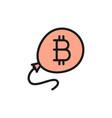 bitcoin balloon blockchain cryptocurrency flat vector image vector image