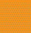 blue polka dots on orange background vector image vector image