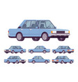 blue sedan set vector image vector image