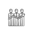 businessmen success hand drawn sketch icon vector image vector image