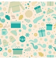 Christmas seamless pattern in vector image vector image