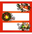 Christmas winter holidays banner with copy space vector image vector image