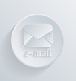 circle icon with a shadow postal envelope vector image vector image
