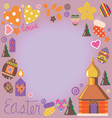 easter card with a set of design elements vector image vector image