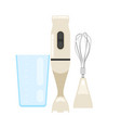 electrical immersion hand blender with speed stick vector image vector image