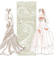 elegant wedding invitation card with bride vector image