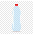 empty plastic bottle for water flat icon vector image
