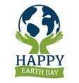 environment and ecology love earth isolated icon vector image vector image