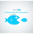 fish concept design background vector image vector image