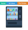 Flat design icon of Food selling machine vector image