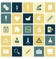 Flat design icons for medical science vector image vector image