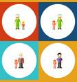 flat icon relatives set of grandma grandpa vector image vector image
