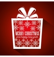gift merry christmas and new year design isolated vector image vector image