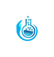 glass tube lab care logo designs inspiration vector image