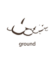 Ground silhouette vector image