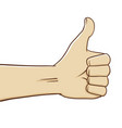 hands thumbs up vector image