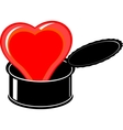 heart in a can vector image vector image