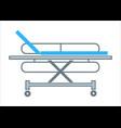 hospital transportation bed medical stretcher vector image