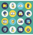 Information technology security icons set vector image vector image