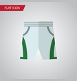 isolated shorts flat icon trunks cloth vector image vector image