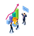 isometric business success or teamwork concept vector image