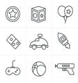 Line Icons Style toy icons mono symbols vector image