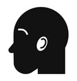 man head icon simple style vector image vector image
