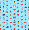 Medical Seamless Pattern Flat Simple Colorful vector image vector image