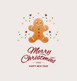 minimalist style christmas greeting card vector image