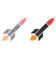 missile launch collage of binary digits vector image vector image