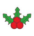 mistletoe icon image vector image
