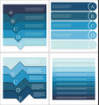 modern blue design template collection vector image vector image