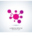 Modern logotype icon dna and molecule vector image vector image
