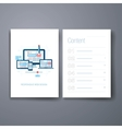 Modern responsive web design flat icon cards vector image vector image