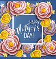 mothers day greeting card vector image