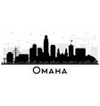 omaha nebraska city skyline silhouette with black vector image