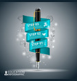 Pencil step education infographics vector image