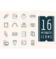 Personal objects icons set Mobile vector image