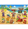 pirate child cartoon vector image vector image