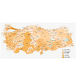 population map turkish provinces vector image vector image