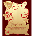 Red and Gold Floral Design vector image vector image