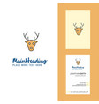reindeer creative logo and business card vertical vector image vector image