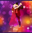 retro dance day or dancing party vector image vector image