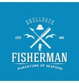 Retro Fisherman Logo or Label Template vector image vector image