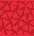 seamless pattern red triangles random vector image