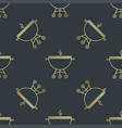 seamless pattern with brazier or grill vector image