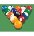 set billiard balls realistic vector image vector image