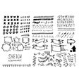 Set of different elements in doodle style vector image vector image