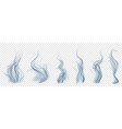 set of translucent light blue smoke vector image